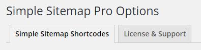 Simple Sitemap Plugin Tabs