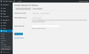 Simple Sitemap Pro License Options