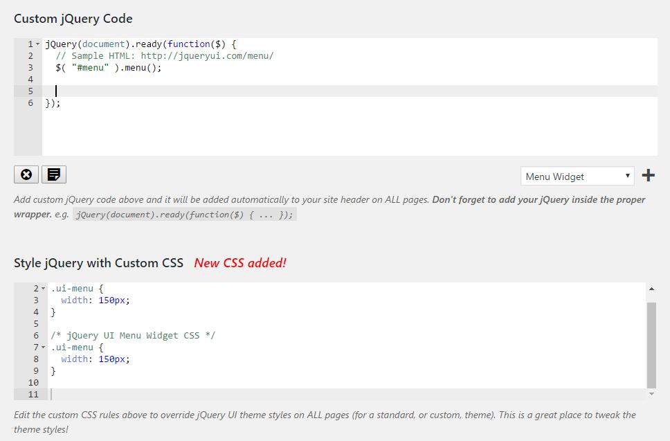 Custom Code Editors