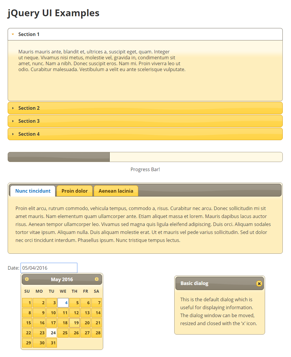 jQuery UI Widgets Pro - WPGO Plugins
