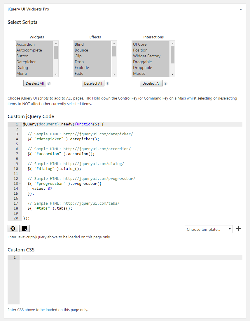 Easily add scripts and custom code to specific pages only