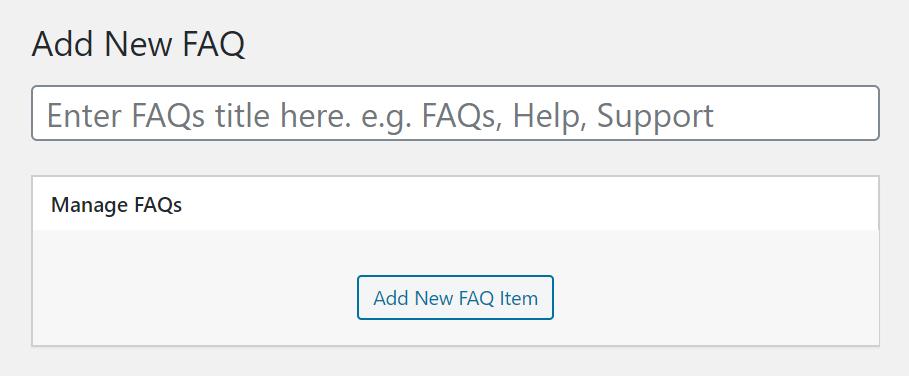 Add new FAQ